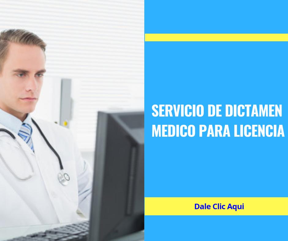 dictamen medico-www.tramitesparalicencias.com